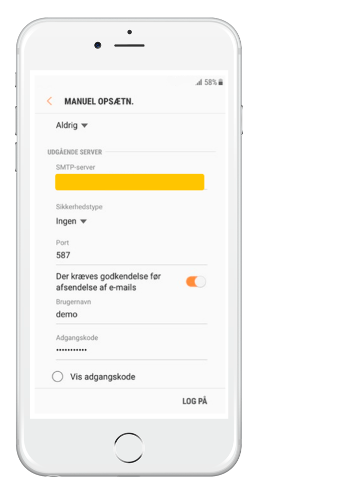 Stofa-mail på Android